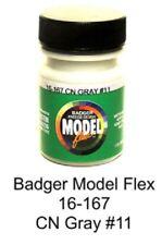 Badger Model Flex 16-167 CN Canadian National Gray #11 1 oz Acrylic Paint Bottle