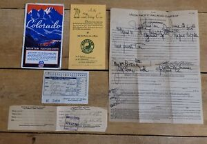 1938 Northern Pacific Railroad Yellowstone Park Line Lot Ticket Redemption Cert