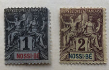 French Colonies: two stamps of Nossi-BE, MH