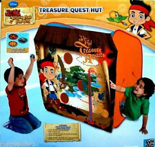 DISNEY JAKE & THE NEVER LAND PIRATES TREASURE QUEST HUT,LARGE TENT,BEAN BAGS,NEW