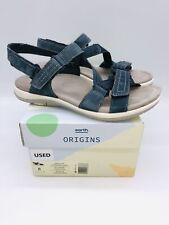 Earth Origins Women's Savoy Slade Sport Sandals Navy Blue Suede US 8M EUR 39 *