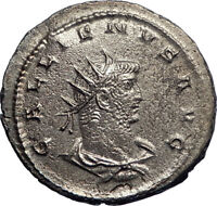 GALLIENUS 263AD son of Valerian I Silver Ancient Roman Coin Jupiter Zeus i74188
