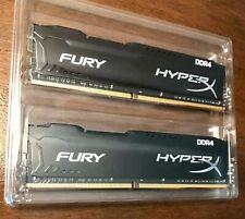 Kingston DDR4 32GB(2x16GB) HX426C16FBK2/32  HyperX Fury Black DDR4-2666 *tested*