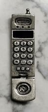"Vintage 1980s Pewter Motorola Flip Cell Phone Lapel Pin 3"" Moves"