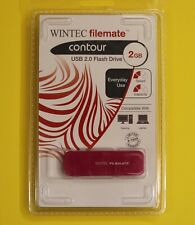 WINTEC FileMate Contour 2GB USB 2.0 Flash Drive Magenta 3FMSP03U2MG-2GB-R New