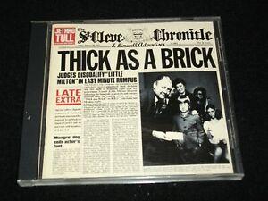 JETHRO TULL<>THICK AS A BRICK<>Canada Cd (1997) ~CHRYSALIS 724349540026