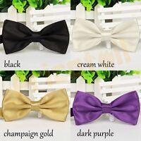 28 Colors Mens Silk Satin Plain Solid Bow Tie Formal Wedding Bowtie Necktie