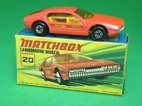 Matchbox Lesney No.20d Lamborghini Marzal In 'I2' Box (GLOSS SALMON WIDE WHEELS)