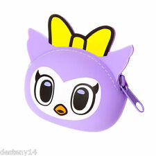 Neon Star by Tokidoki Purple Owl Girls Silicone Coin Purse New