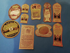 Set of 10 Unused Vintage Antique Cosmetic Labels Paper