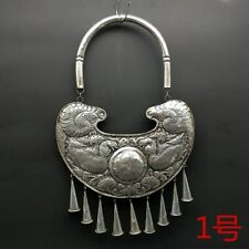 handmade miao silver necklace 1piece Big Tribe exotic decorative hanging chinese