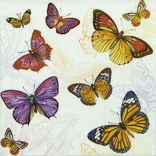 4x Paper Napkins for Decoupage Decopatch Summer Butterflies