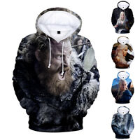 Mens Game of Thrones Hoodie Tops Cotton Print Pullover Sweater Casual Tee