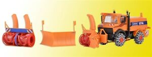 Kibri 15011 Escala H0,Unimog Quitanieves Con Winterdienstausrüstung # Neu En Ovp