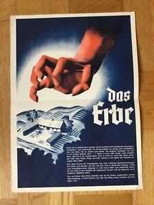 Das Erbe (Kleinplakat '39) - UFA