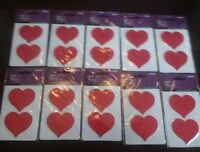 Lot of 20 (10 2pks) love Red Heart Patches Appliques Iron On  (B34)