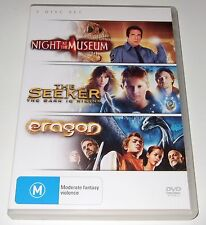 Night At The Museum / The Seeker / Eragon (DVD, 3-Disc Set) 3 movie pack