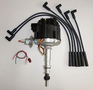 FORD Inline 6 cylinder 64-83 170,200,250 HEI Distributor & BLACK Spark Plug Wire
