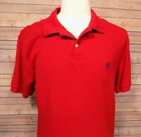 Chaps Men's Short Sleeve Polo Shirt Red Size XL Cotton