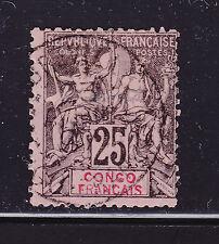 COLONIES FRANCAISES CONGO N°  19 ° oblitéré, TB, cote: 22.50 €