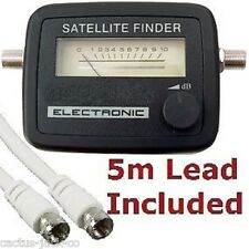 SATELLITE METER SAT SIGNAL FINDER SATFINDERWITH 5M LEAD