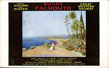 Great Western Railway Official. Sunny Falmouth Poster Advert.