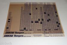 Microfich Catalogo parti di ricambio FIAT TEMPRA mq/93 (1370 - 1580) Stand 03/1995