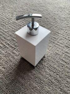 Modern White/Chrome || Soap & Lotion Dispenser