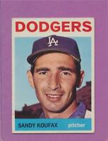 1964 Topps Sandy Koufax #200 Dodgers HOF Card EX DEAD CENTERED