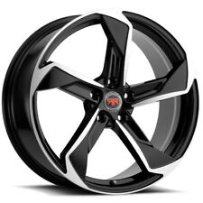 4 Revolution R20 20x8 5x45 40mm Blackmachined Wheels Rims 20 Inch Fits 2011 Toyota Camry