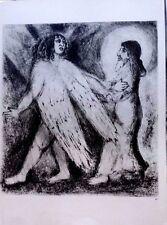 Marc Chagall offset lithograph Bible  paris maeght 1960 original  2 sided 140