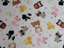 CRIB/TODDLER SHEET/FITTED/FLANNEL- CUTE WOODLAND FRIENDS