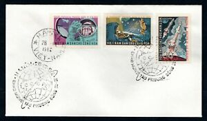 Vietnam - 1962 Vostok II & IV Space Flights Imperf Set First Day Cover