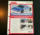 Kyosho Vintage Color Paper Brochure & Parts List for Thunderbird Stock Car