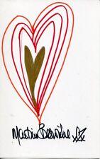 007 Bond girl Martine Beswick signed art doodle 'Heart'