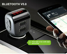 Dual Usb Car Charger Mp3 Player Bluetooth Wireless V5.0 Fm Transmitter for Phone