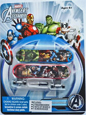 Marvel Avengers Assemble FINGERBOARD Small Skateboard 2 Pieces Pack NEW