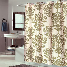 Ez On Fabric Shower Curtain Beacon Hill Fleur De Lis Sage 72x72 Built in Hooks