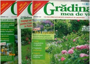 Romanian horticulture and garden magazines, lot of 3, GRADINA MEA DE VIS 2000-02