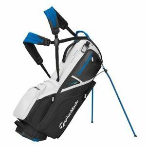TaylorMade TM21 Flextech Stand Bag White/Black/Driver Blue NEW 12396