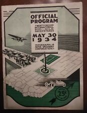 1934 Indy 500 Official Program