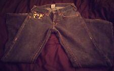 "Auth TRUE RELIGION men's JOEY BIG T big stitch bootcut flare jeans-31 x 34.5"""