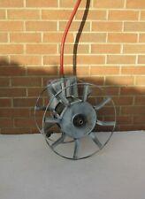 Vintage large galvanised metal wall mounted garden hose storage reel
