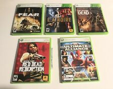 5 XBOX 360 LOT FEAR, L.A. NOIRE, THE WALKING DEAD, RED DEAD REDEMPTION, FORZA 2