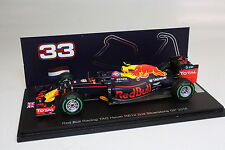 Max Verstappen 1/ 43 Spark Red Bull Racing TAG Heuer RB12 2nd Silverstone 2016