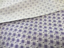 """3Y29"""" Vintage Cotton Quilt Fabric Lot Purple Whi Calico Print Lavender 45W #0465"""
