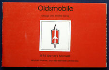 Owner's Manual Betriebsanleitung 1978 Oldsmobile Omega + Starfire   (USA)