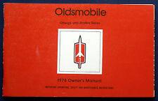 Owner's Manual Betriebsanleitung 1978 Oldsmobile Omega + Starfire   (USA)