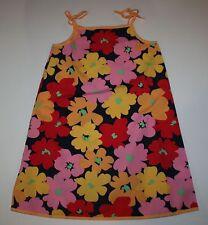 NUEVO Hanna ANDERSSON verano Popelina Grande Estampado Floral Vestido Talla