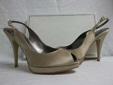 BCBG Max Azria Size 10 M Libby Champagne Satin Slingbacks Heels New Womens Shoes